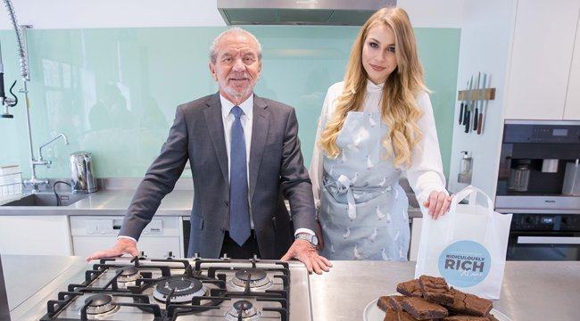 Alana with Lord Sugar